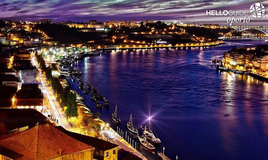 The beauty of the night on the Douro River